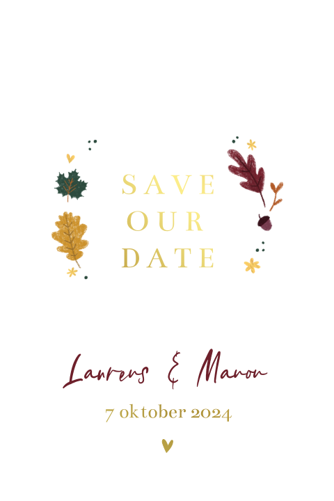 Save the date herfst